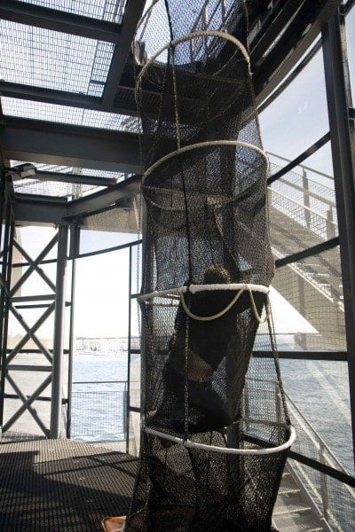 Stavanger museo petroleo, simulacro de evacuación
