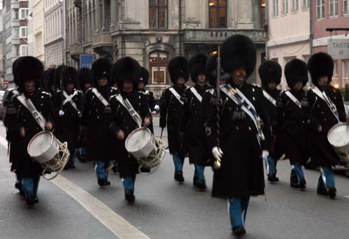 Detalle del cambio de guardia en Copenhague