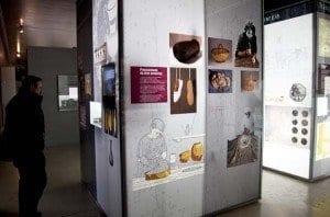 Zona expositiva en el Museo de las villas romanas