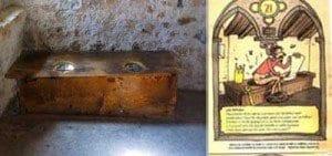 Letrinas medievales en el casrillo de Chillon en Montreux
