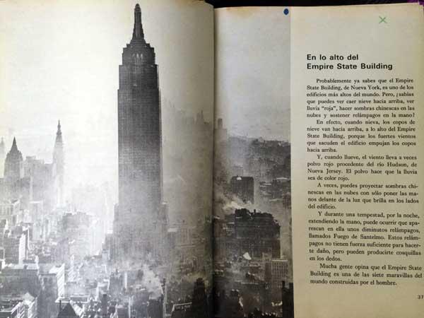 Página dedicada al Empire State en el número 10 de El Mundo de los niños