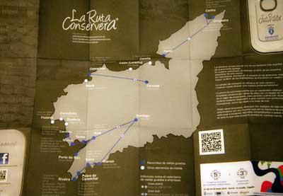 Plano mapa de la ruta conservera