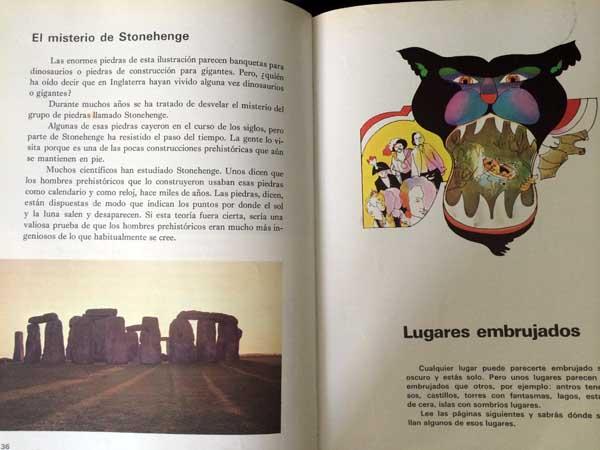 Página dedicada a Stonehenge en el número 10 de El Mundo de los niños