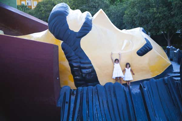 Cabeza del parque Gulliver, en Valencia