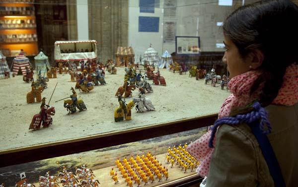 recreación de una escena medieval