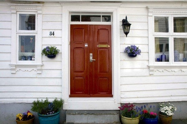 Stavanger barrio antiguo puerta