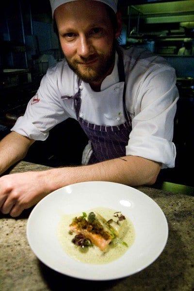 Stavanger cocinero y plato de salmon
