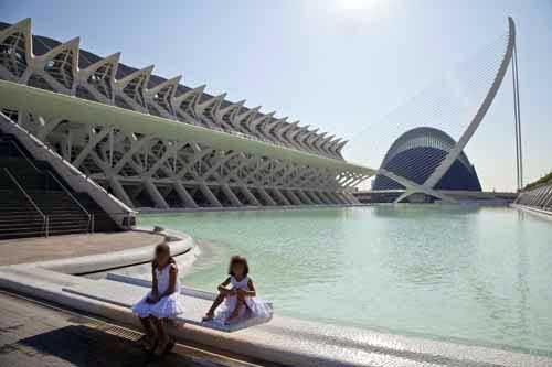 Panorámica de la Ciudad de las Artes y las Ciencias de Valencia