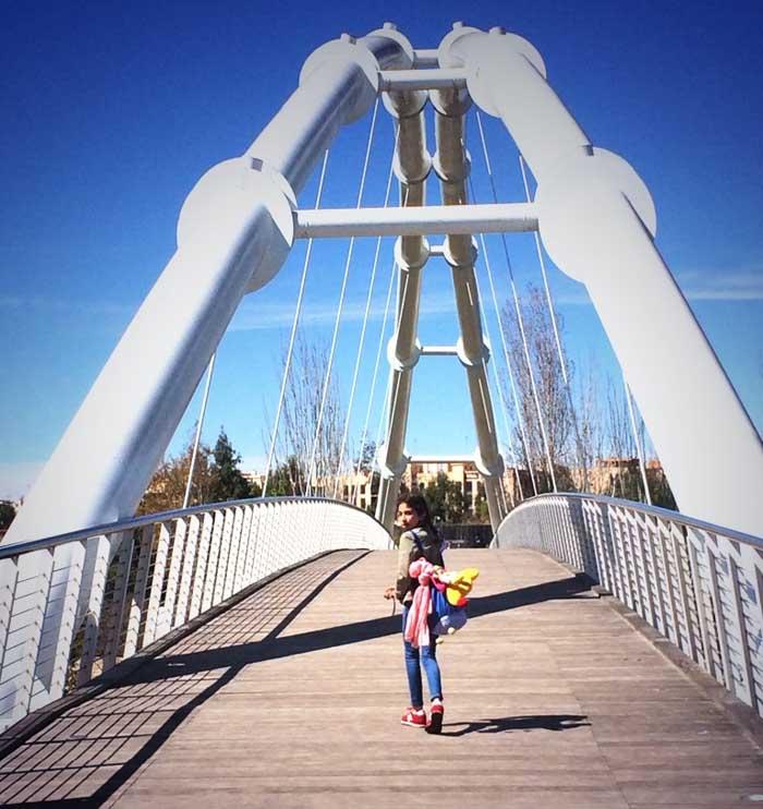 Puente de acceso al Bioparc de Valencia