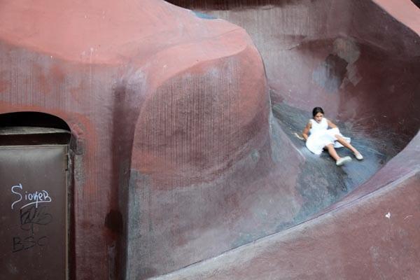 Tobogán el parque de Gulliver