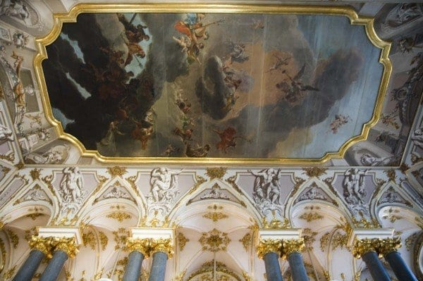 Detalle salón en el Hermitage