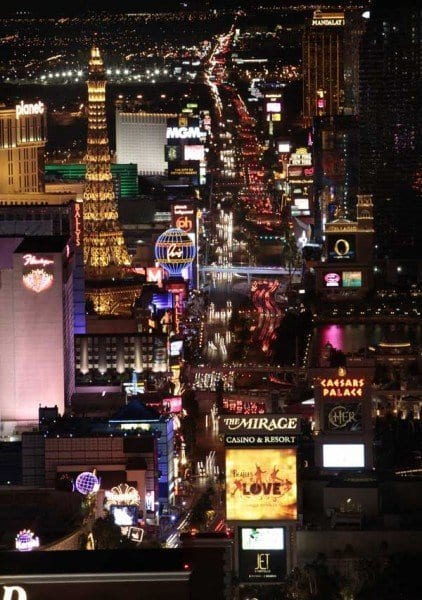 Las Vegas Strip shot from the Trump Tower. 2/23/10