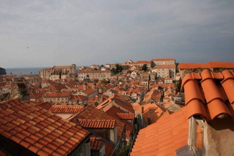 Imagen de los míticos tejados de Dubrovnik
