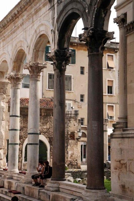 Columnas del palacio de Diocleciano