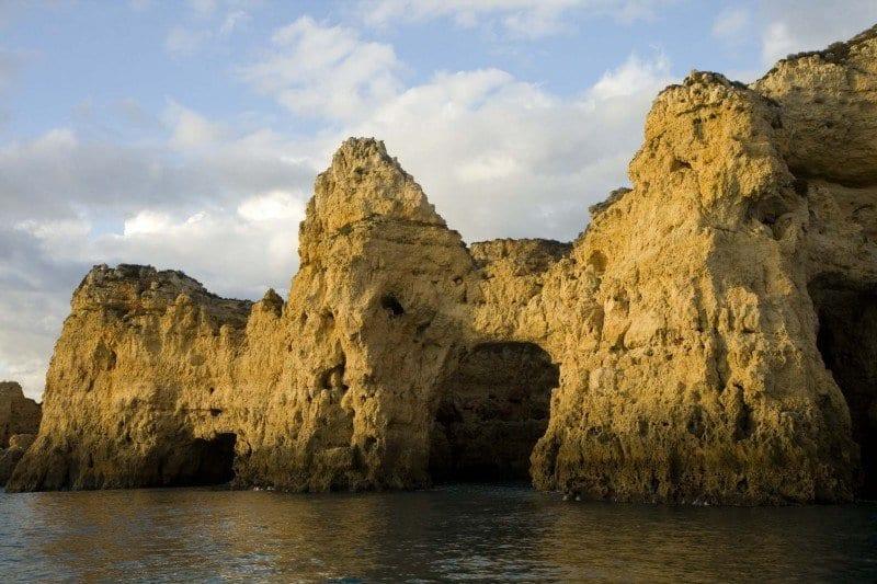 Acantilados en el Algarve