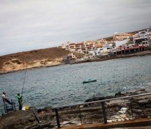 Pescadores en la Caleta, en Tenerife