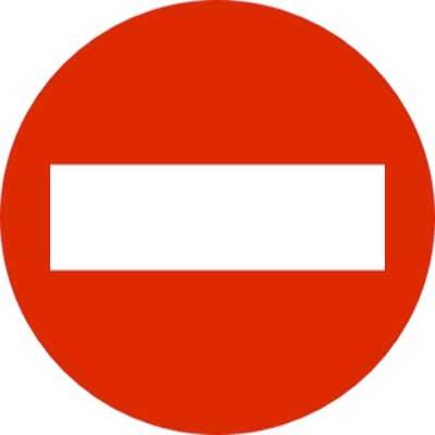 prohibido señal