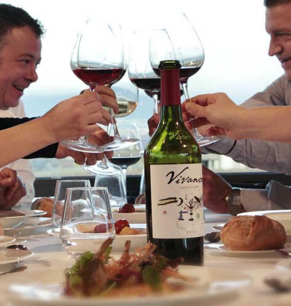 restaurante vivanco brindis