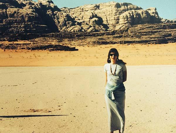 La Viajera Empedernida en  Wadi Rum