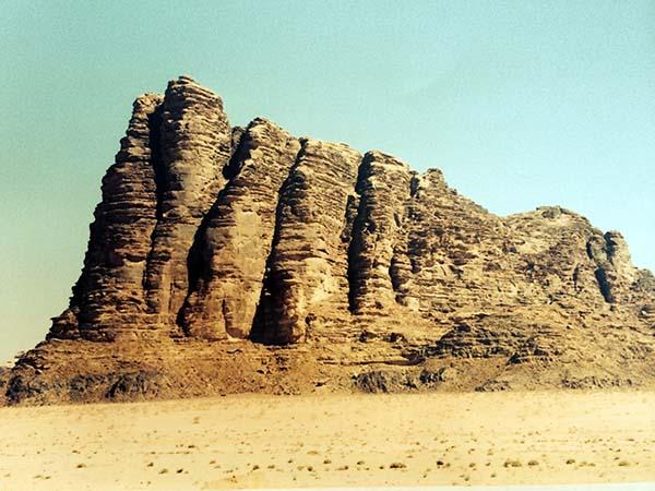 Los siete pilares de la sabiduría, en Wadi Rum, Jordania