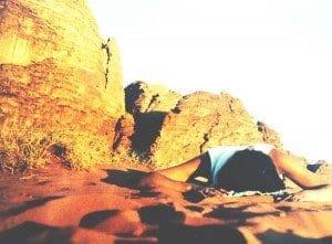 Nani Arenas en Wadi Run, Jordania