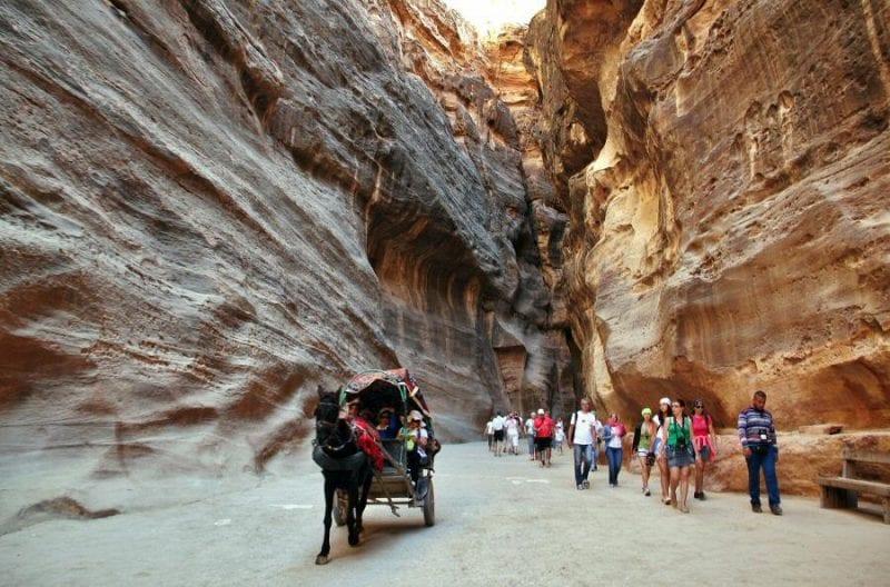 El Siq es el unico acceso a Petra