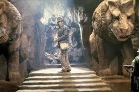 Escena del Indiana Jones dentro del templo donde se oculta el Santo Grial