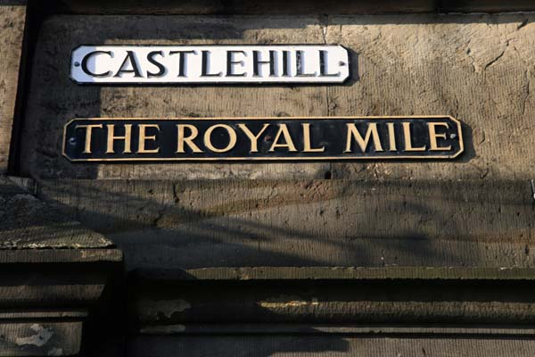 Edimburgo castlehill y Royal Mile