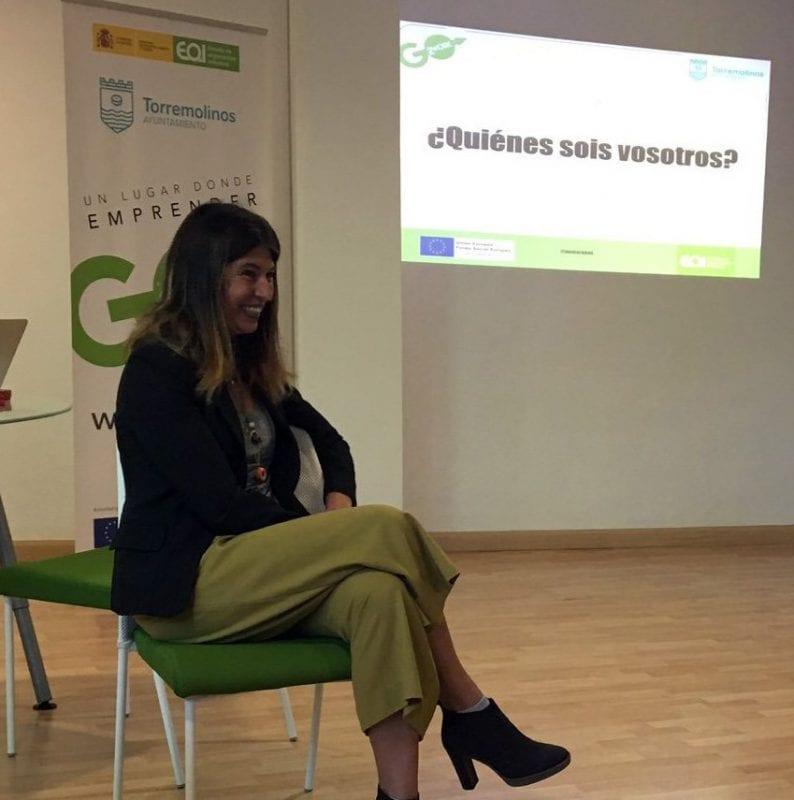 Nani Arenas en un taller impartido en colaboración con la EOI