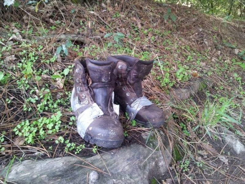 camino botas viejas