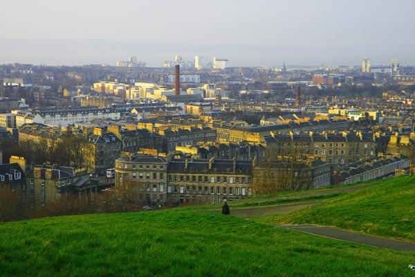 Panorámicas de Edimburgo desde Calton Hill