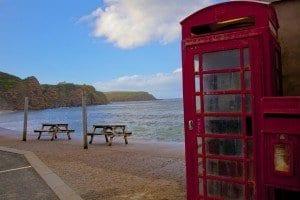 Cabina telefónica en Pennan