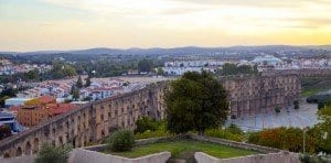 Panorámica del acueducto de Elvas