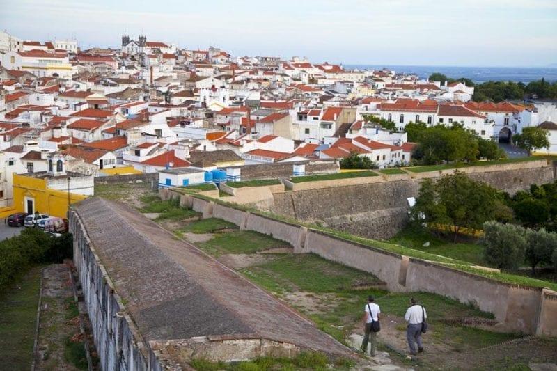 Detalle de una de las murallas de Elvas