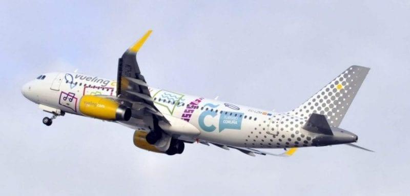 Avión Vueling Coruña