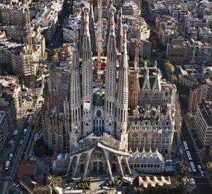 Imagen aerea de la Sagrada Familia