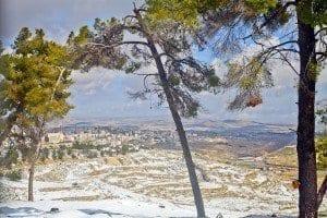 Vista del desierto que rodea Jerusalén