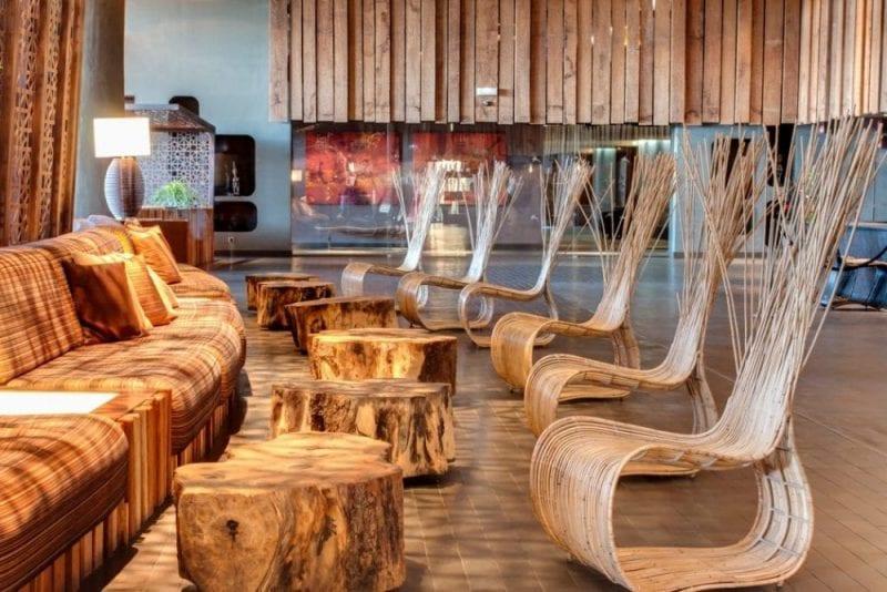 Detalle recepción Hotel Baobab