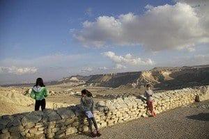 Desierto del Neguev, paisaje frente a la tumba de Ben Gurion