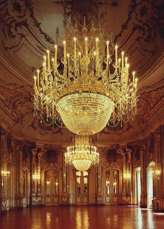Detalle del interior del palacio de Queluz