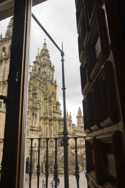 Santiago de Compostela catedral desde ventana