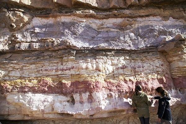 cada color representa un tipo de piedra: arcilla, hierro, cobalto, cobre...