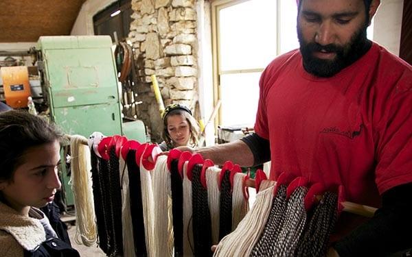 Fábrica de lana en Alpaca Farm