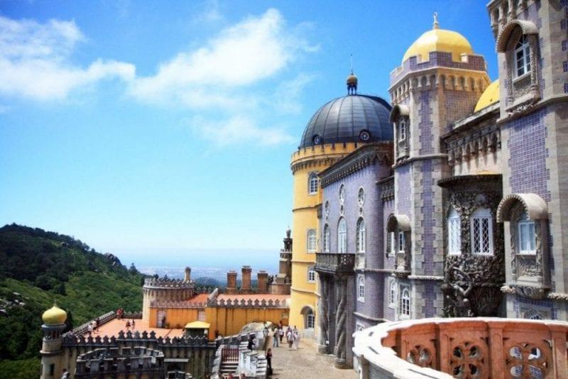 Vistas del palacio de Pena