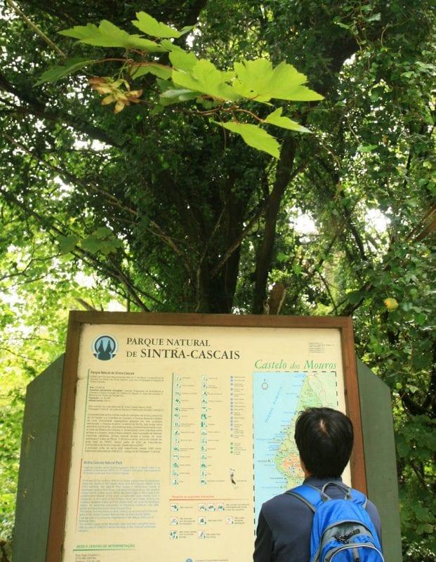 Acceso al parque Natural de Sintra - Cascais
