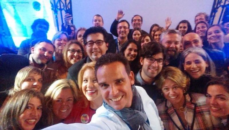 Selfie con alguos de los ponentes del Composgastroblog
