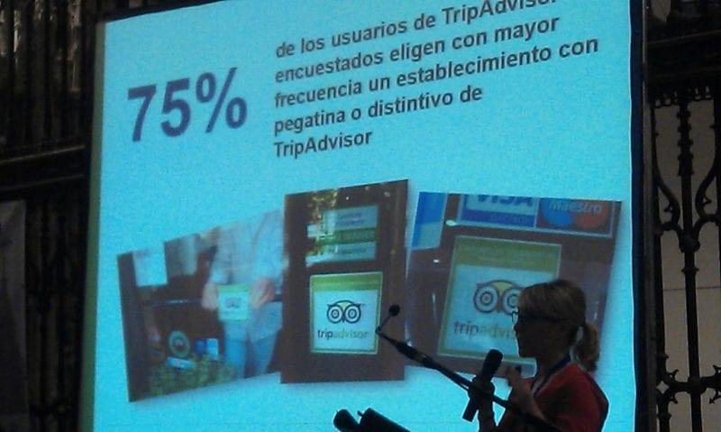 Blanca Zayas, directora de Comunicación de Tripadvisor durante su ponencia