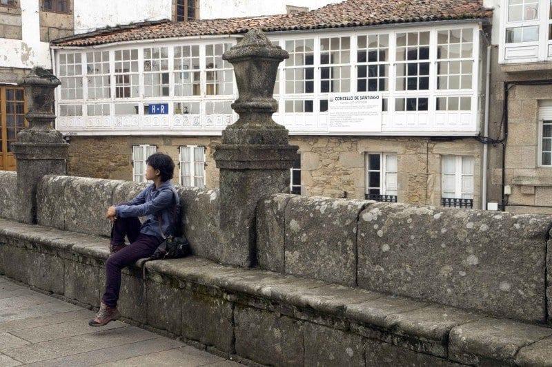Santiago de Compostela banco de piedra