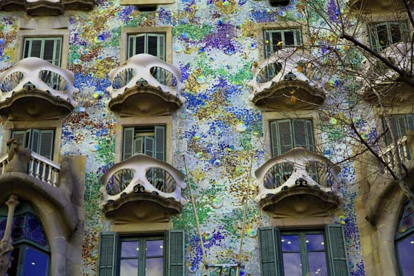 Balcones de la casa Batlló, de Gaudí