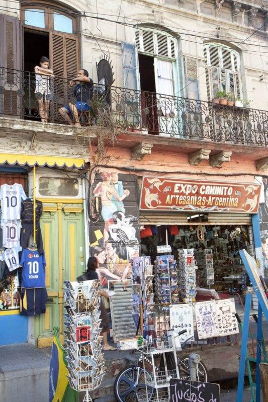 Detalle del barrio de Caminito en Buenos Aires